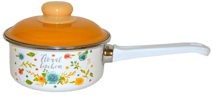 """Ковш Appetite """"Floral Kitchen"""", с крышкой, 1 л"""