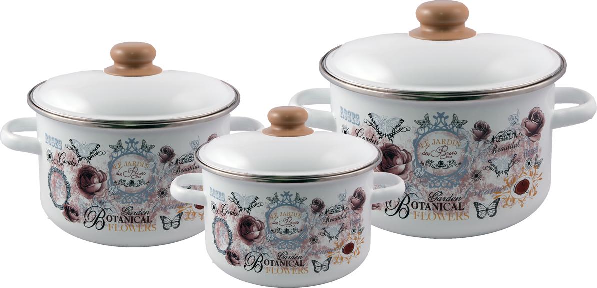 """Набор посуды Appetite """"Roses"""", 3 предмета"""