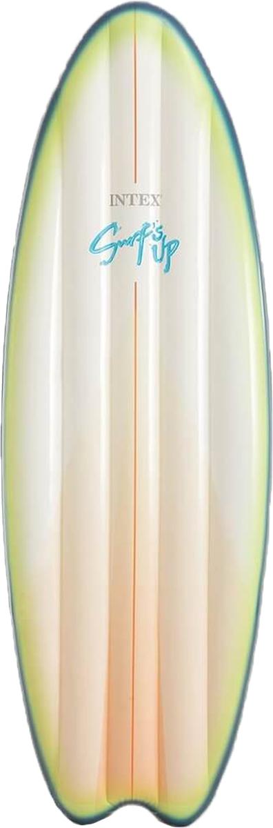 Intex Надувной матрас Серфер цвет белый зеленый 178 х 69 см