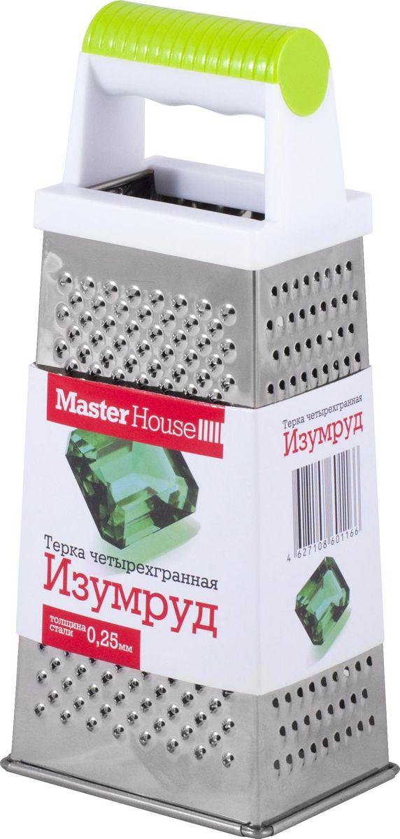 Терка четырехгранная Master House Изумруд, цвет: зеленый терка шестигранная master house топаз цвет голубой