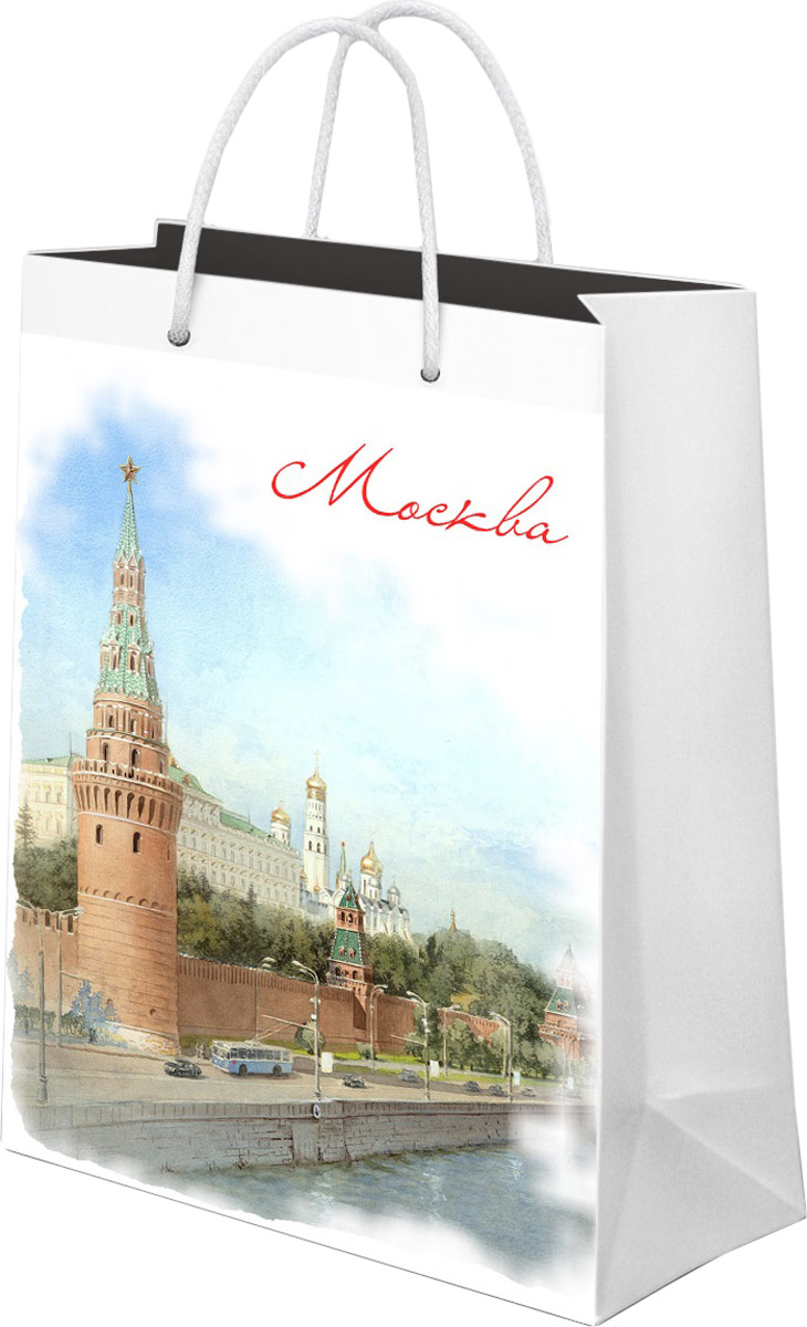 Пакет подарочный Даринчи Москва, 33 x 27,5 см пакет подарочный даринчи pushkin ван гог