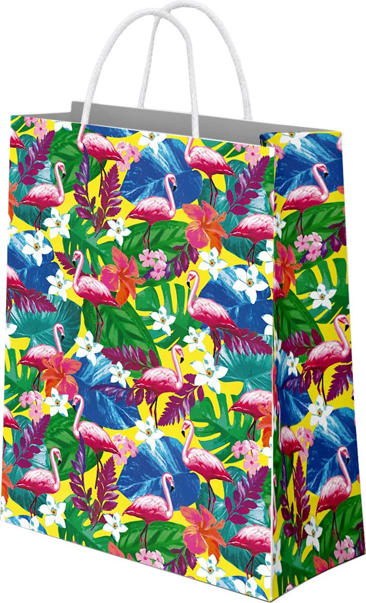 Пакет подарочный Даринчи Фламинго, 33 x 27,5 см пакет подарочный даринчи pushkin ван гог