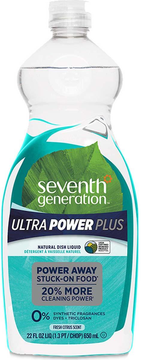 Жидкость для мытья посуды Seventh Generation Ultra Power Plus, гипоаллергенная, свежий цитрусовый аромат, 650 мл
