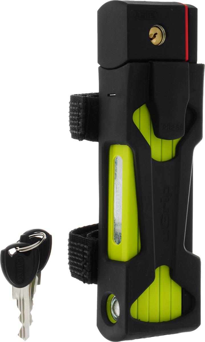 Велозамок Abus Bordo uGrip 5700/80, с ключами, цвет: лайм велозамок abus bordo big 6000 120 с ключами цвет красный