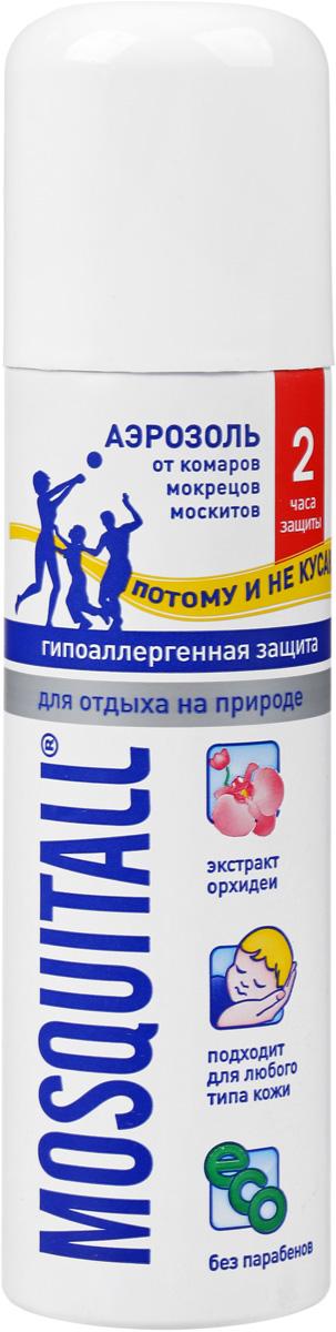Аэрозоль от комаров Mosquitall Гипоаллергенная защита, 150 мл средства от насекомых mosquitall гипоаллергенная защита от комаров 150 мл