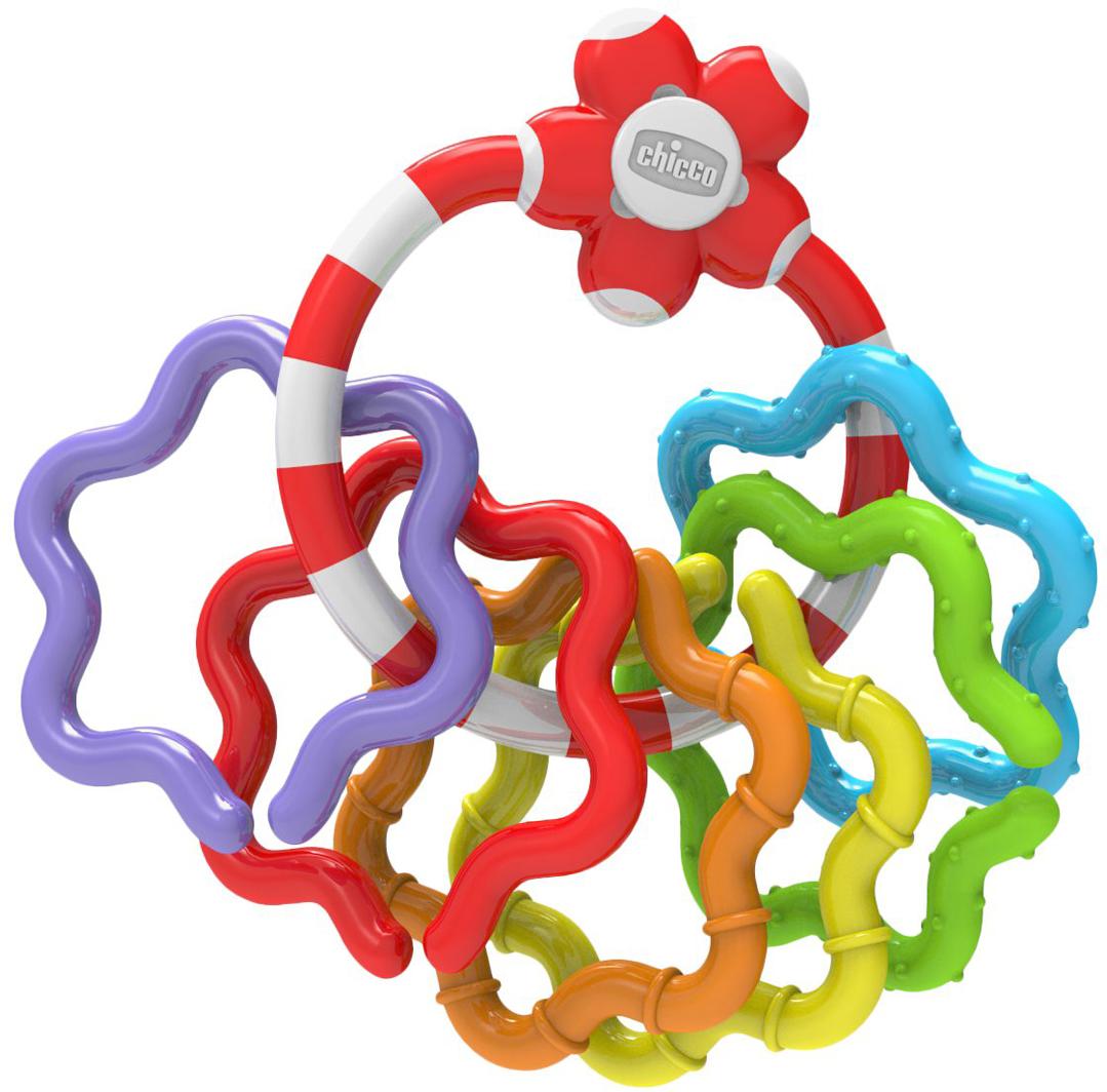 Chicco Погремушка Кольца00005954000000Легкая и удобная погремушка. Яркую погремушку удобно захватывать и держать даже маленьким малышам. 6 разноцветных звездочек можно снять с кольца и собрать в цепочку. Прекрасно подходит для развития мелкой моторики и навыков координации рук. Рекомендуем!