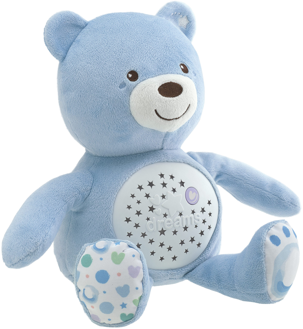 Chicco Развивающая игрушка Мишка цвет голубой
