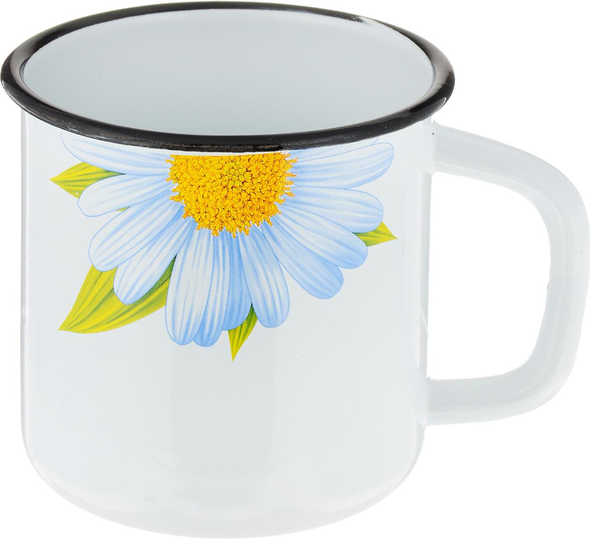 Фото - Кружка эмалированная Эмаль Ромашка, цвет: белый, 1 л лоток эмаль 1 л без рисунка