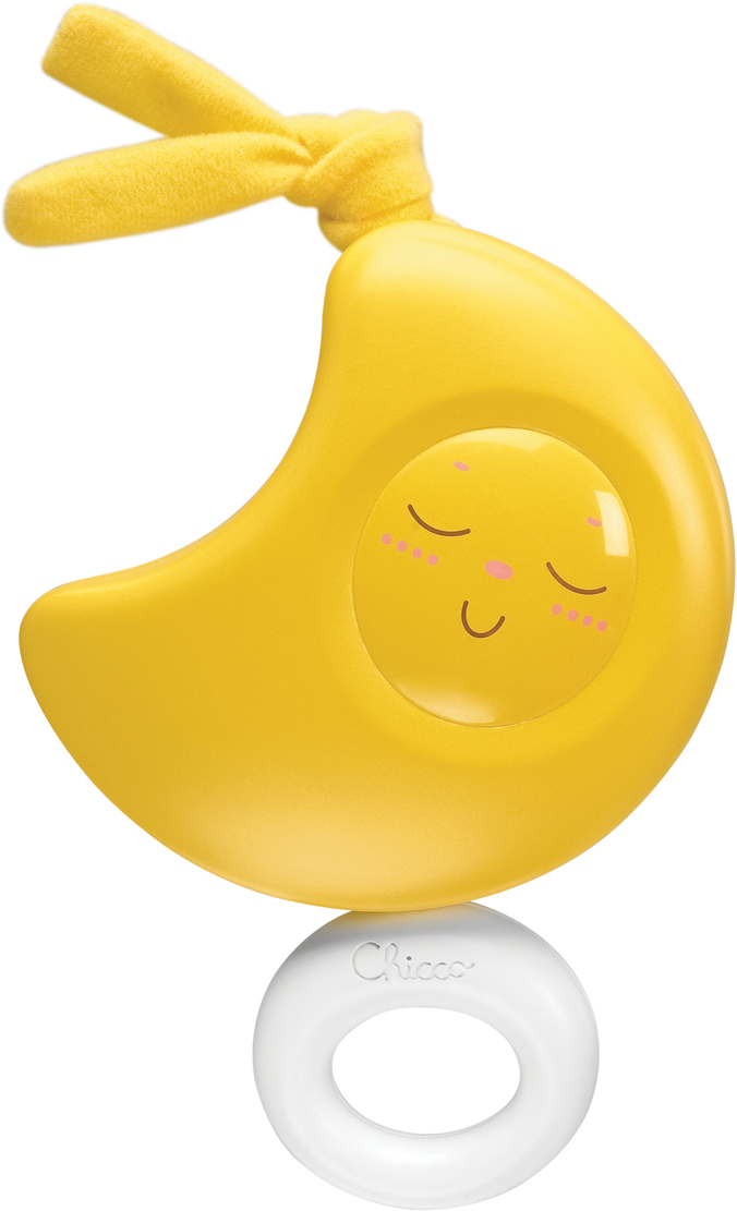 Chicco Музыкальная игрушка-подвеска Луна цвет желтый чикко подвеска луна