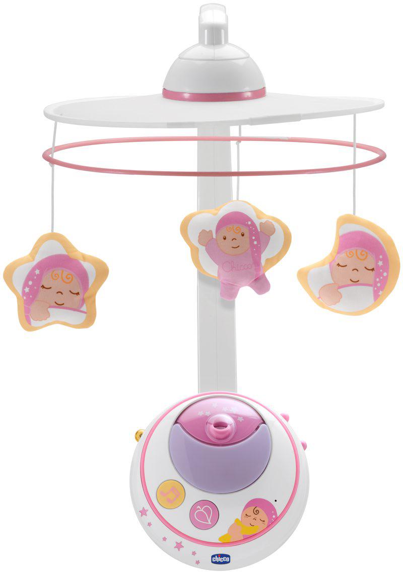 Chicco Мобиль-проектор Волшебные звезды цвет белый розовый