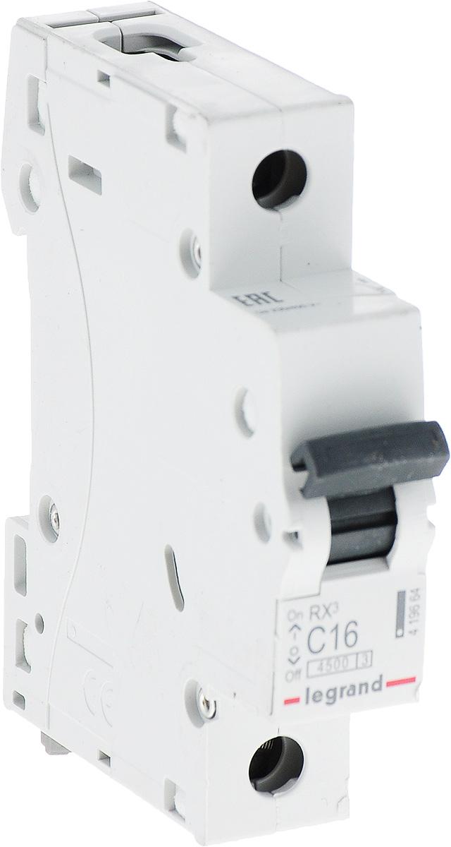 Выключатель автоматический Legrand 1Р 16A (С) 4.5kA RX3 цена