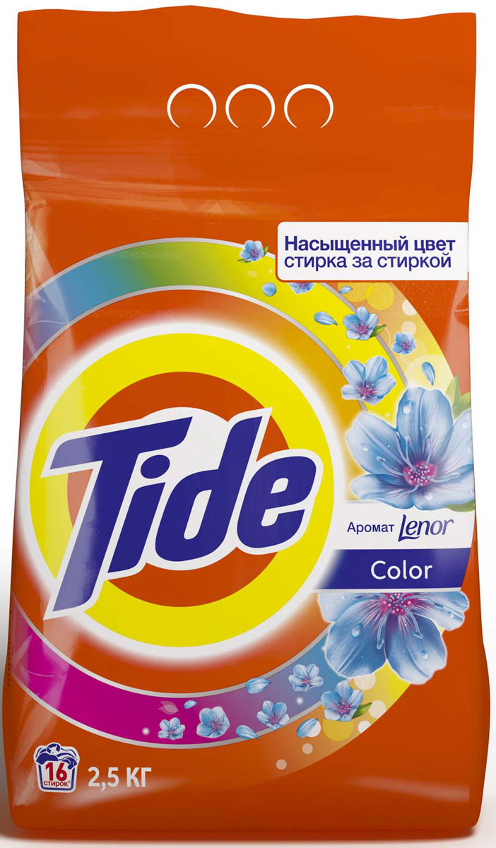 Стиральный порошок Tide Lenor Touch of Scent. Color, автомат, 2,5 кг порошок стир tide lenor лаванда автомат 4 5кг