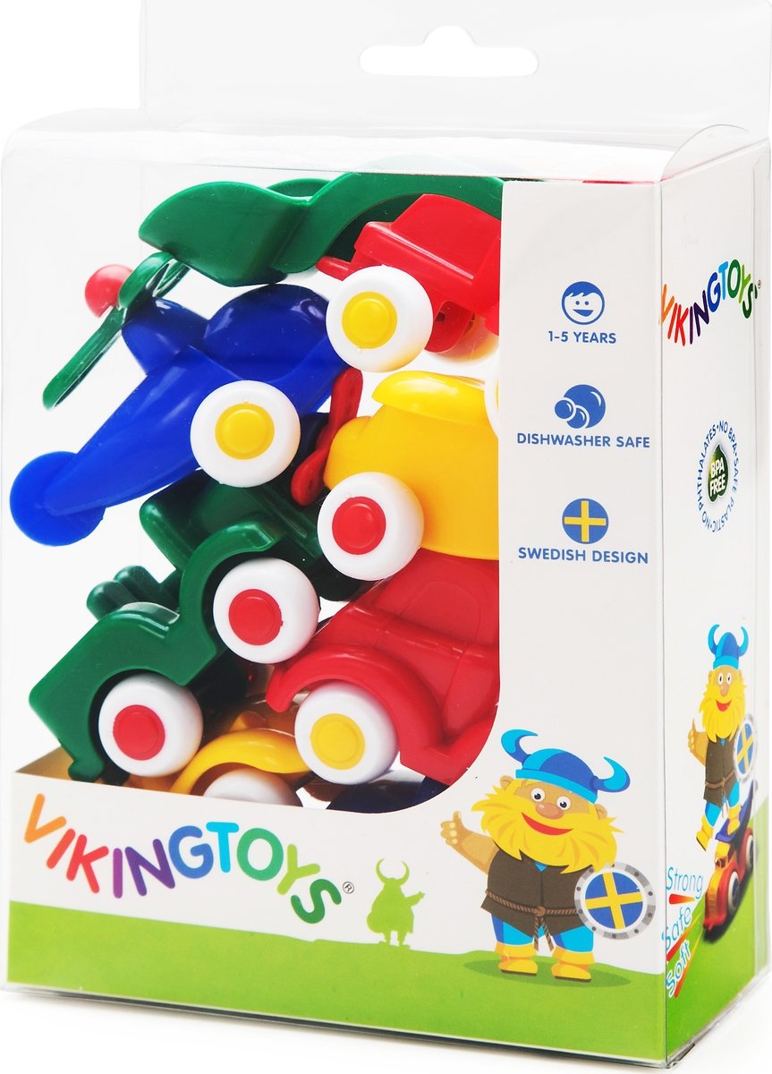 Viking Toys Игровой набор машинок и авиатехники Мини 7 предметов