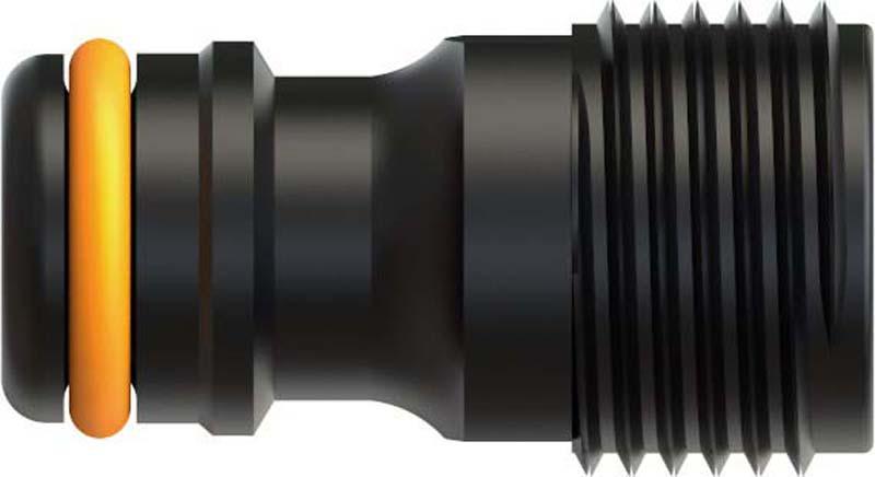 Штуцер для крана шланга Fiskars, с внешней резьбой, диаметр 13 мм, 1/2 дюйма штуцер для шланга 3 4 с наружной резьбой 1 denzel 97272