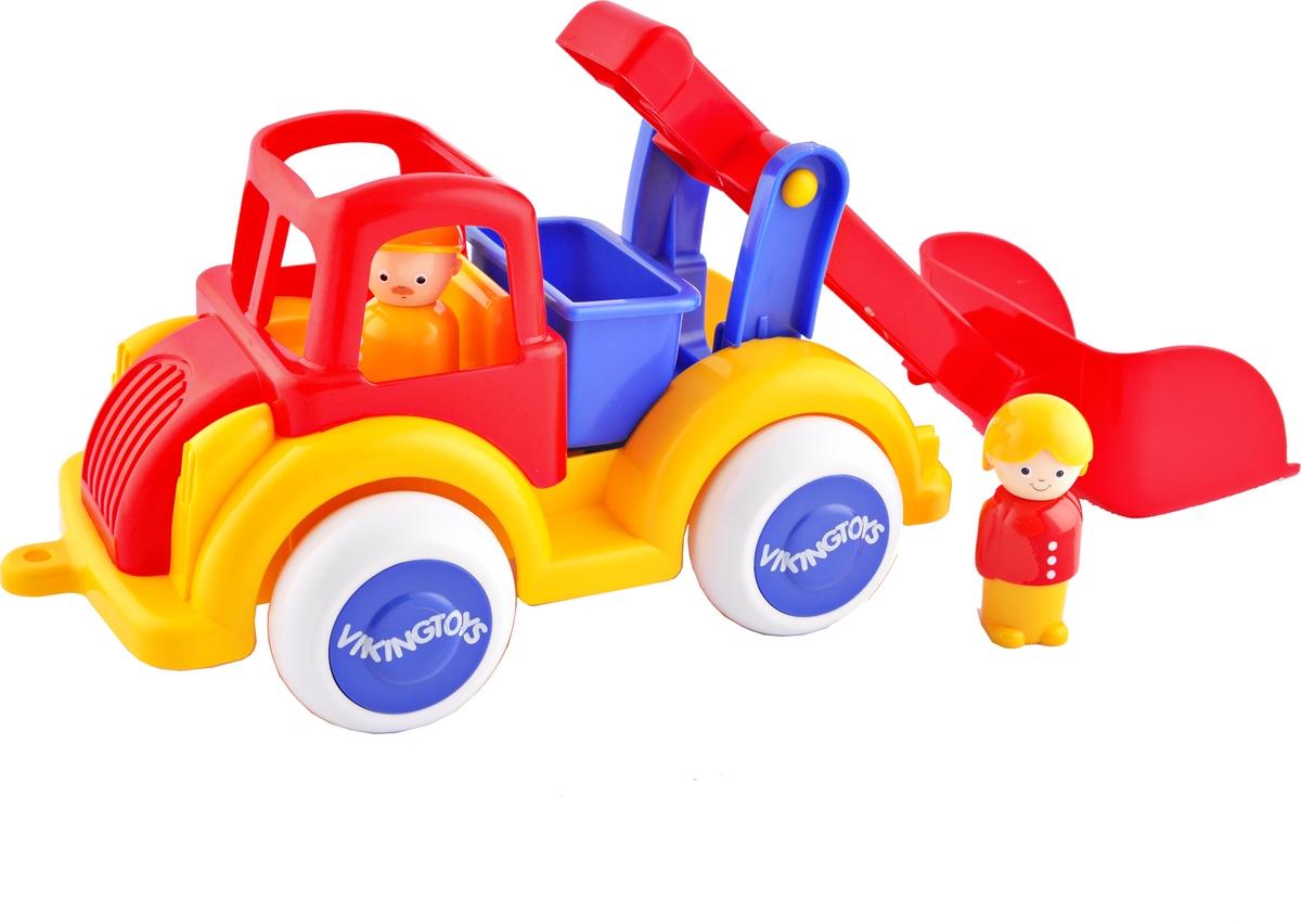 Viking Toys Машинка Строительная с ковшом с двумя фигурками pioneer toys машинка строительная техника каток