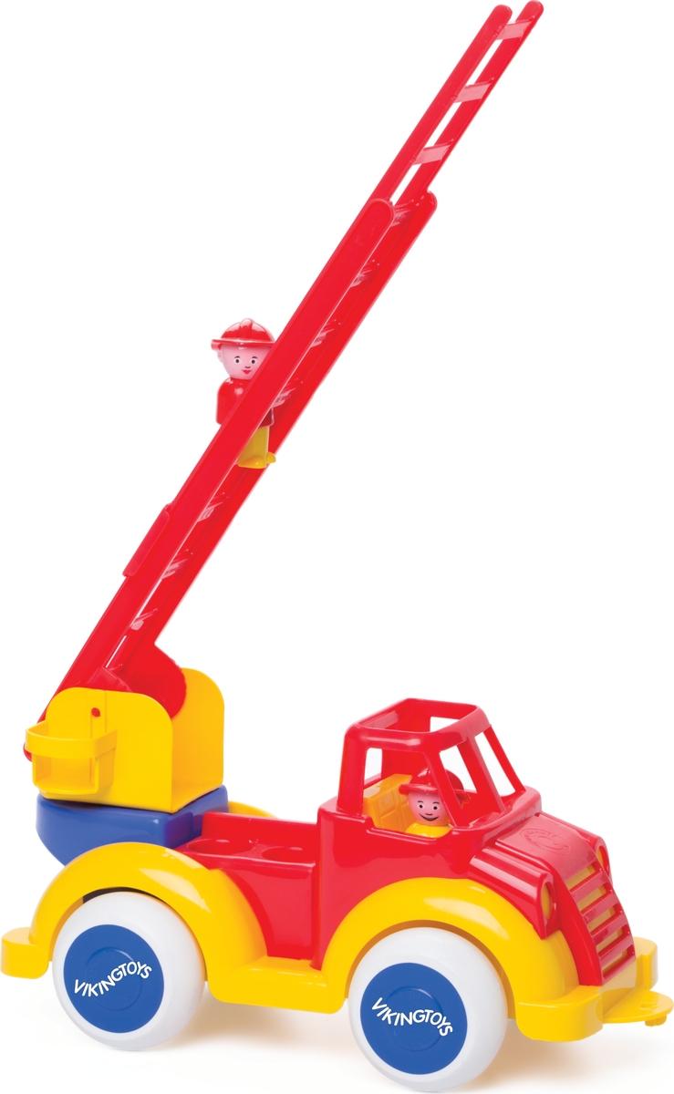 Viking Toys Пожарная машина с лестницей и двумя фигурками 15111511Функциональная машинка Пожарная машина с лестницей, 35см с двумя фигурками