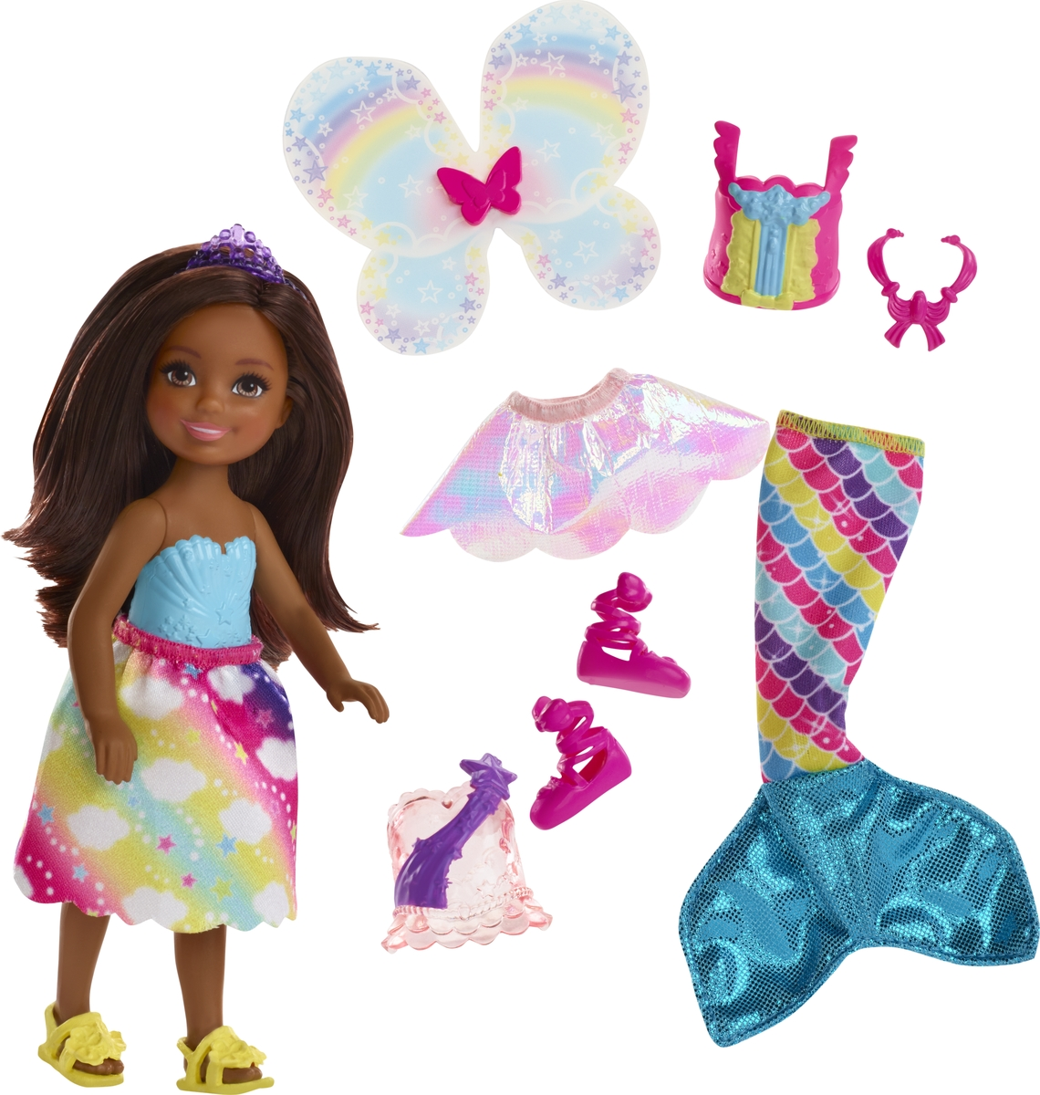Barbie Кукла Челси фея русалка FJC99_FJD01 цены