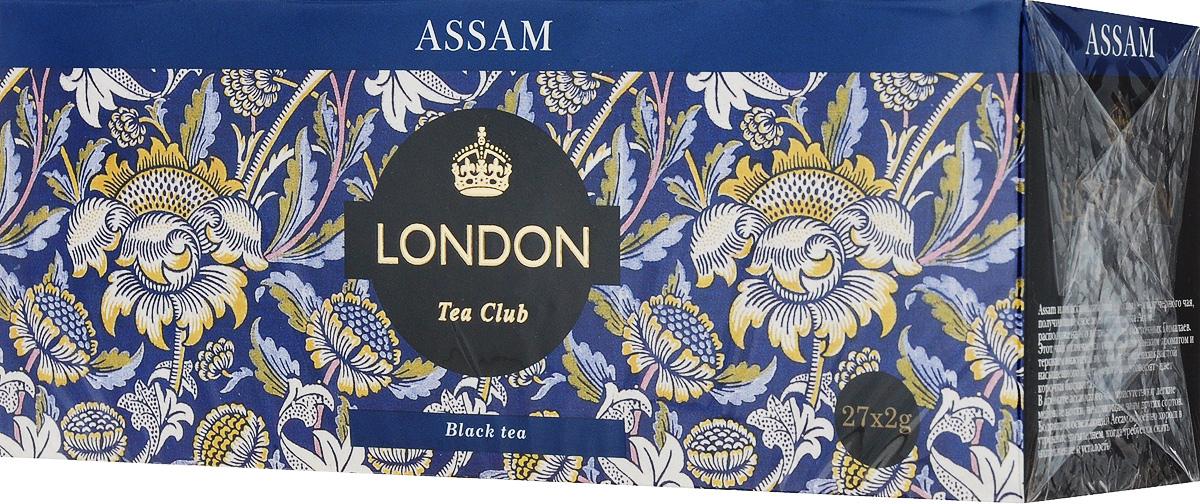London Tea Club Аssam черный чай в пакетиках, 27 шт беседа черный чай в пакетиках 24 шт