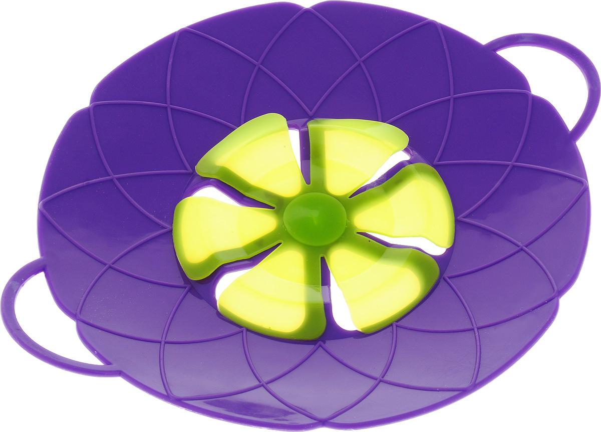 Крышка-невыкипайка Mayer & Boch, цвет: фиолетовый, зеленый, диаметр 25 см крышка невыкипайка mayer