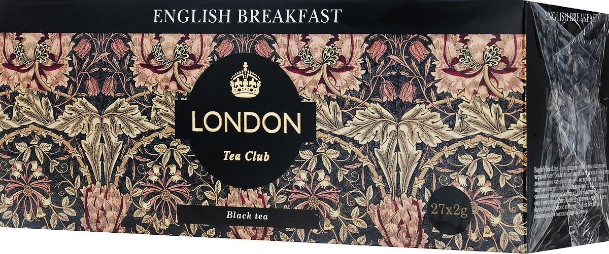 London Tea Club English Breakfast чай черный в пакетиках, 27 шт