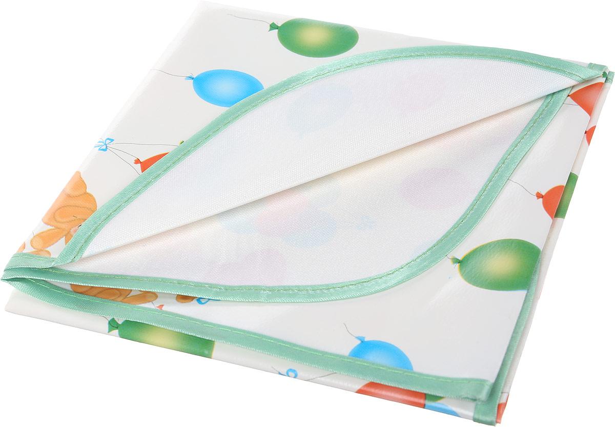 Колорит Клеенка подкладная с окантовкой цвет белый зеленый 50 х 70 см колорит клеенка подкладная с резинками держателями для детских колясок цвет бежевый 50 x 70 см