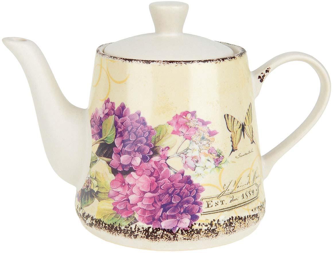 Чайник заварочный ENS Group Целебная гортензия, 1 л чайник заварочный ens персиковая роза 1 л