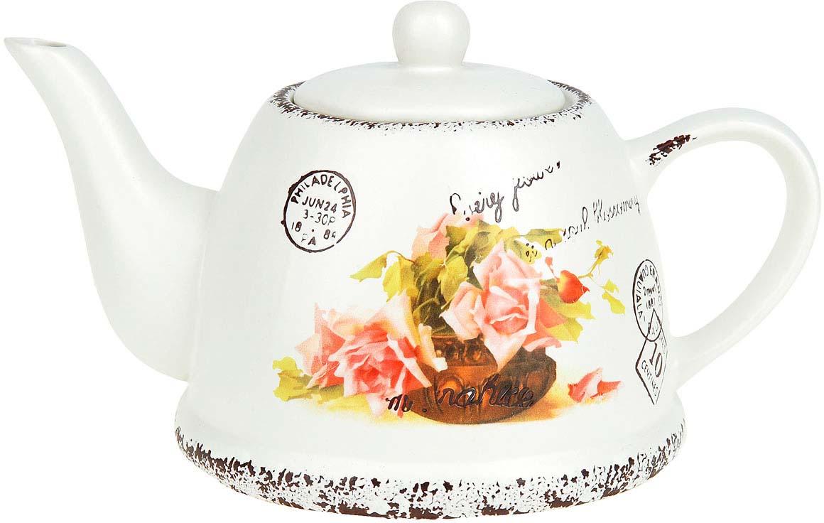 Чайник заварочный ENS Group Персиковая роза, 1 л чайник заварочный 450 мл ens group чайник заварочный 450 мл