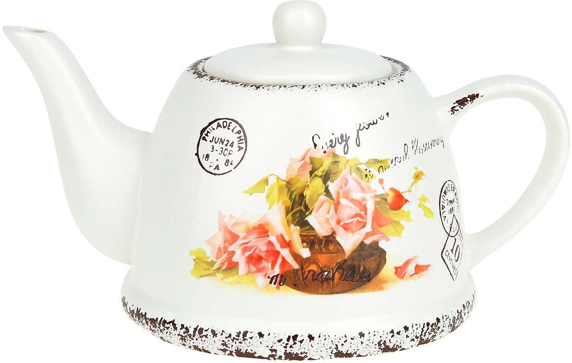 Чайник заварочный ENS Group Персиковая роза, 1 л чайник заварочный ens персиковая роза 1 л