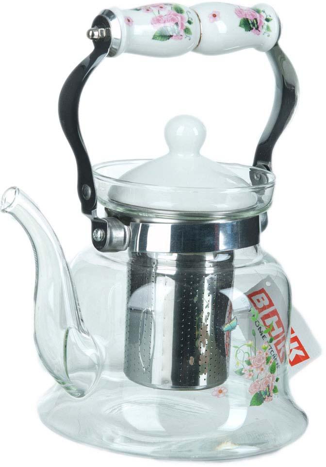 Чайник заварочный BHK, с фильтром, 900 мл заварочный чайник 1 4 л bhk 5420068