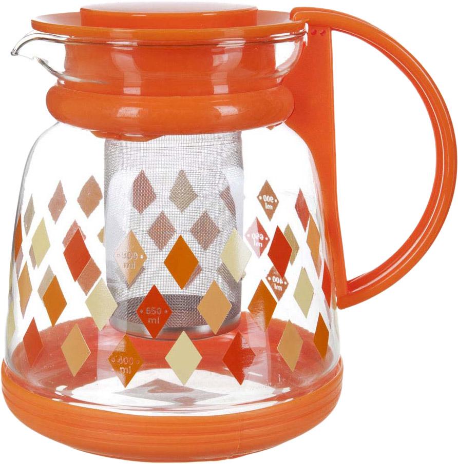 Чайник заварочный BHK, с фильтром, 1,3 л. 5521046 заварочный чайник 1 4 л bhk 5420068