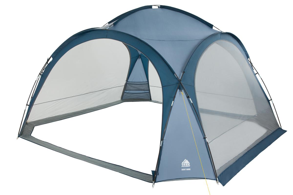 Шатер-тент Trek Planet Event Dome, четырехугольный, 425 х 425 х 235 см, цвет: синий, голубой шатер тент trek planet event dome четырехугольный 425 х 425 х 235 см цвет синий голубой