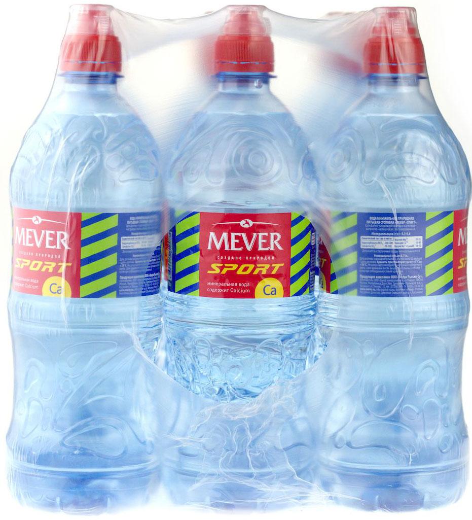 Мевер Вода питьевая природная негазированная 12 шт по 0,75 л