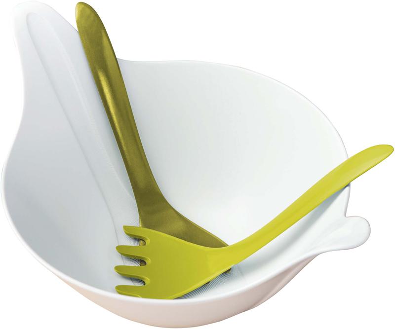 "Салатник Koziol ""Leaf"", цвет: белый, зеленый, 3,5 л"