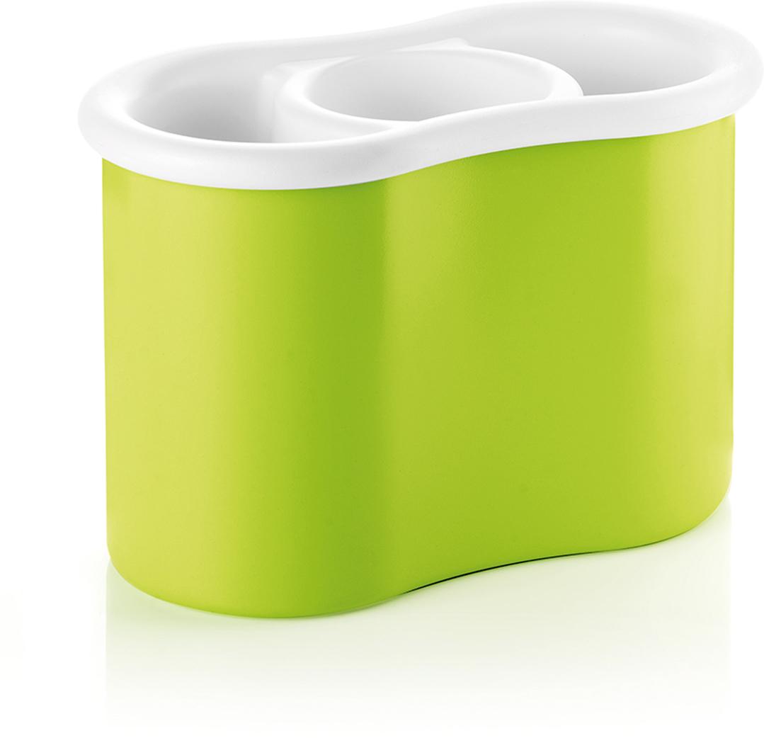 """Сушилка для столовых приборов Guzzini """"Forme Casa"""", цвет: зеленый, 13,7 х 20,4 х 11,2 см"""
