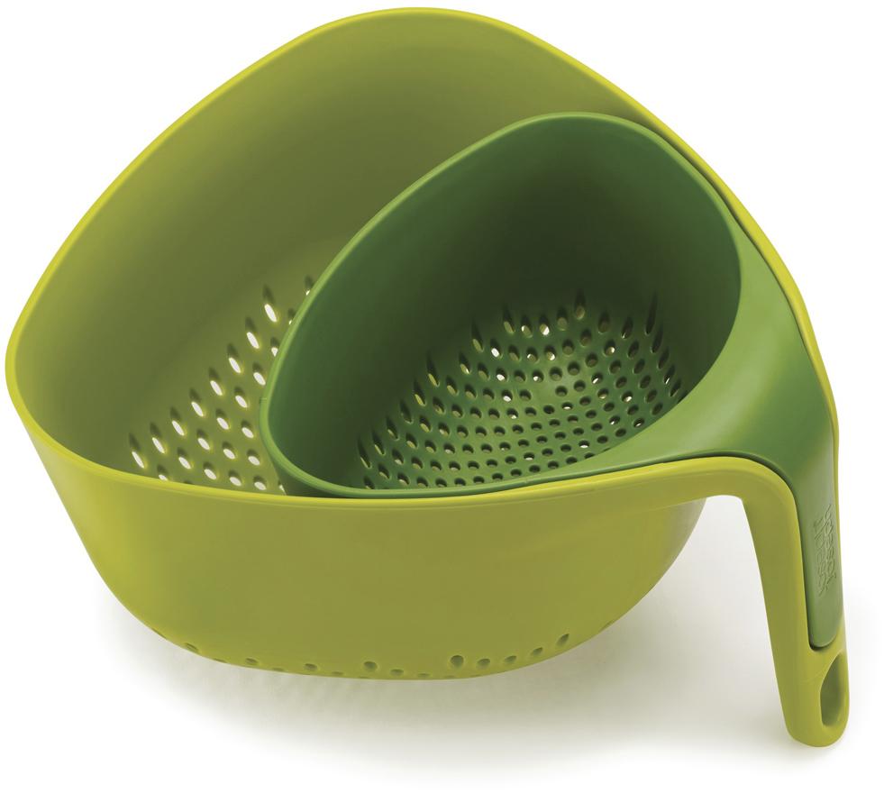 """Дуршлаг Joseph Joseph """"Nest"""", цвет: зеленый, 2 шт"""