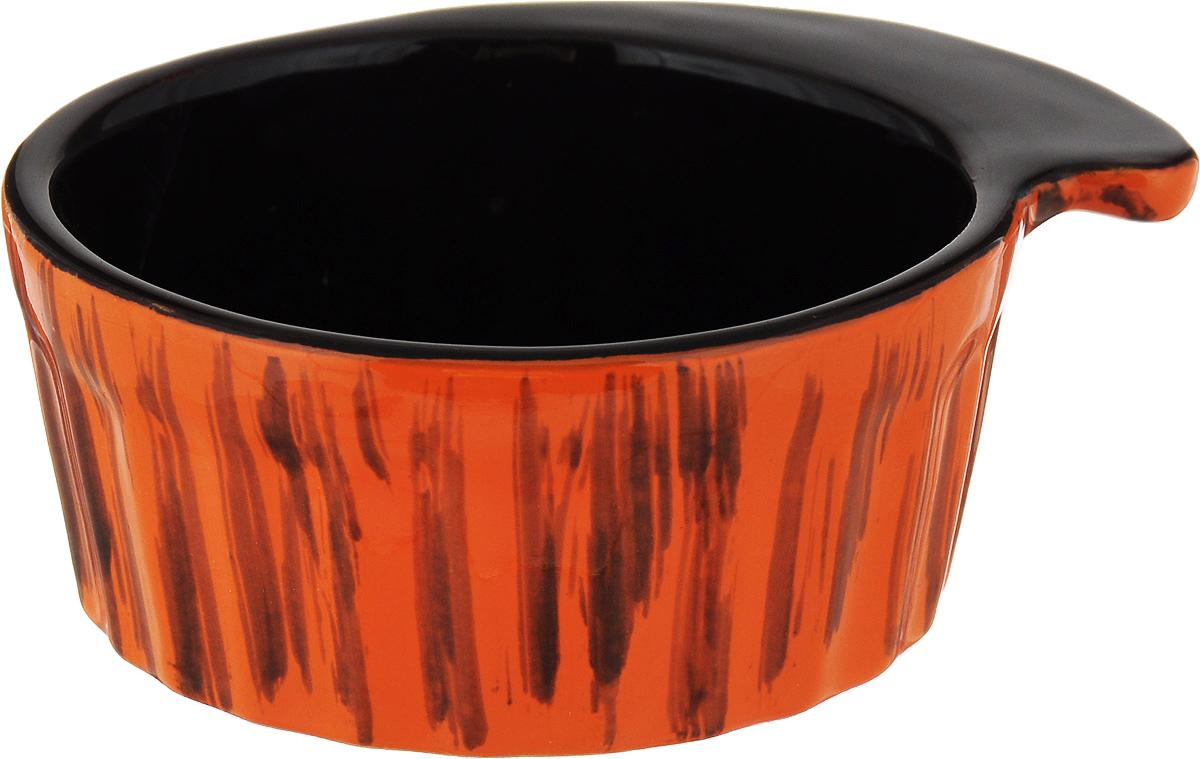 Кокотница Борисовская керамика Ностальгия, цвет: оранжевый, 200 мл. РАД14457899 чайная пара борисовская керамика ностальгия цвет темно фиолетовый голубой 200 мл