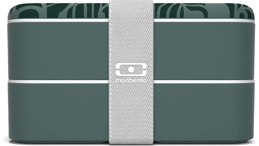 Ланч-бокс Monbento Original, цвет: зеленый, 10,3 х 18 9,4 см