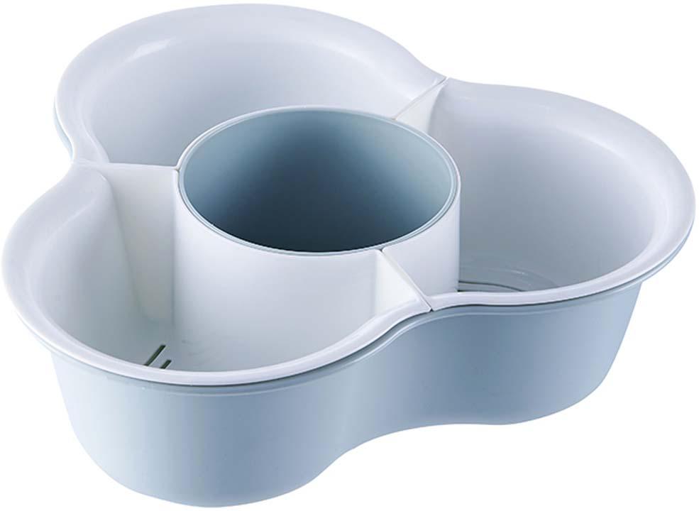 """Емкость для продуктов """"Homsu"""", 4 отделения, цвет: голубой"""