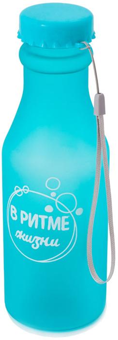 Бутылка для воды Феникс-Презент, цвет: голубой, 550 мл
