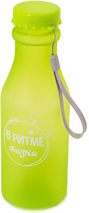 Бутылка для воды Феникс-Презент, цвет: салатовый, 550 мл