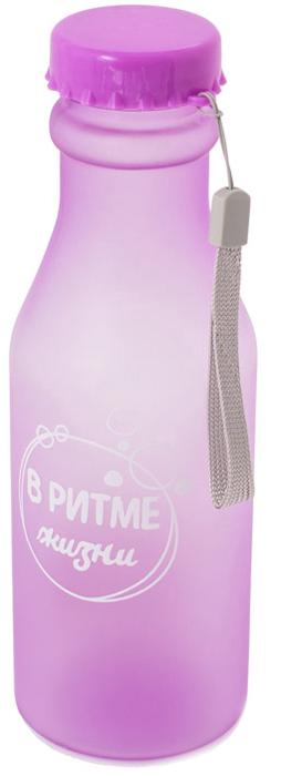Бутылка для воды Феникс-Презент, цвет: фиолетовый, 550 мл