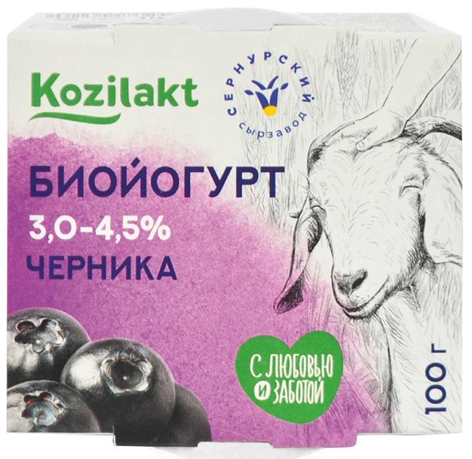 Формула здоровья Биойогурт из цельного козьего молока с Черникой 3 - 4,5%, 100 г недорого