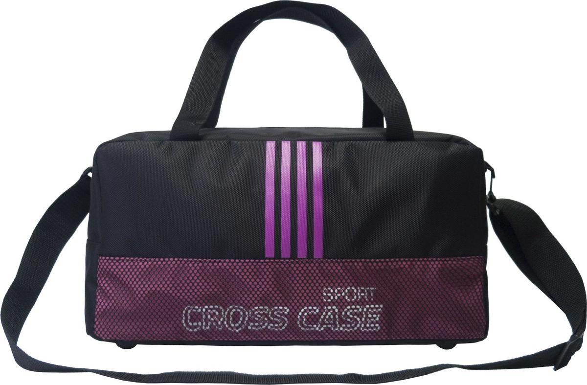 Сумка спортивная Cross Case, цвет: черный, сиреневый. CCS-1043-01 аксессуар сумка 17 3 cross case cc17 014 claret