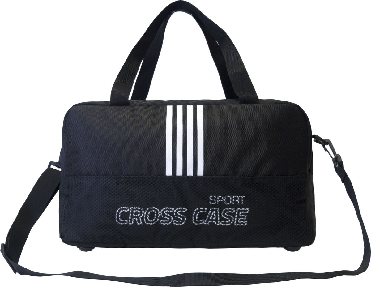 Сумка спортивная Cross Case, цвет: черный, белый. CCS-1043-03 аксессуар сумка 17 3 cross case cc17 014 claret
