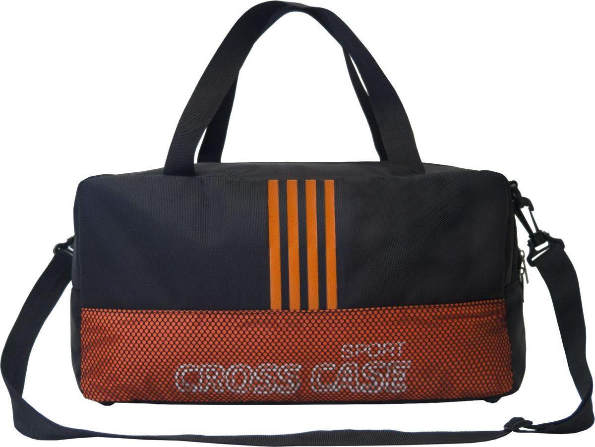 Сумка спортивная Cross Case, цвет: черный, оранжевый. CCS-1043-04 аксессуар сумка 17 3 cross case cc17 014 claret