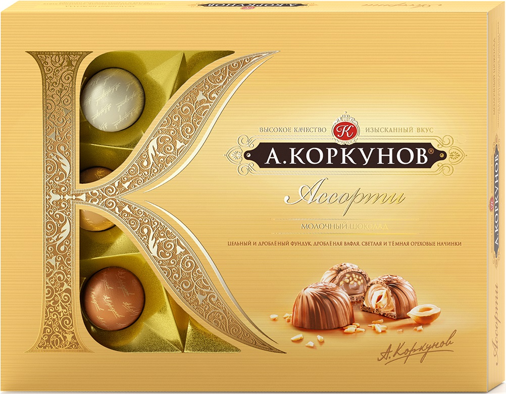 Коркунов Ассорти конфеты молочный шоколад, 110 г цена 2017