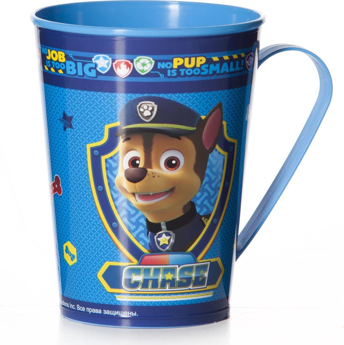 Кружка для мальчиков Альтернатива Щенячий патруль, цвет: синий, 350 мл щенячий патруль часы