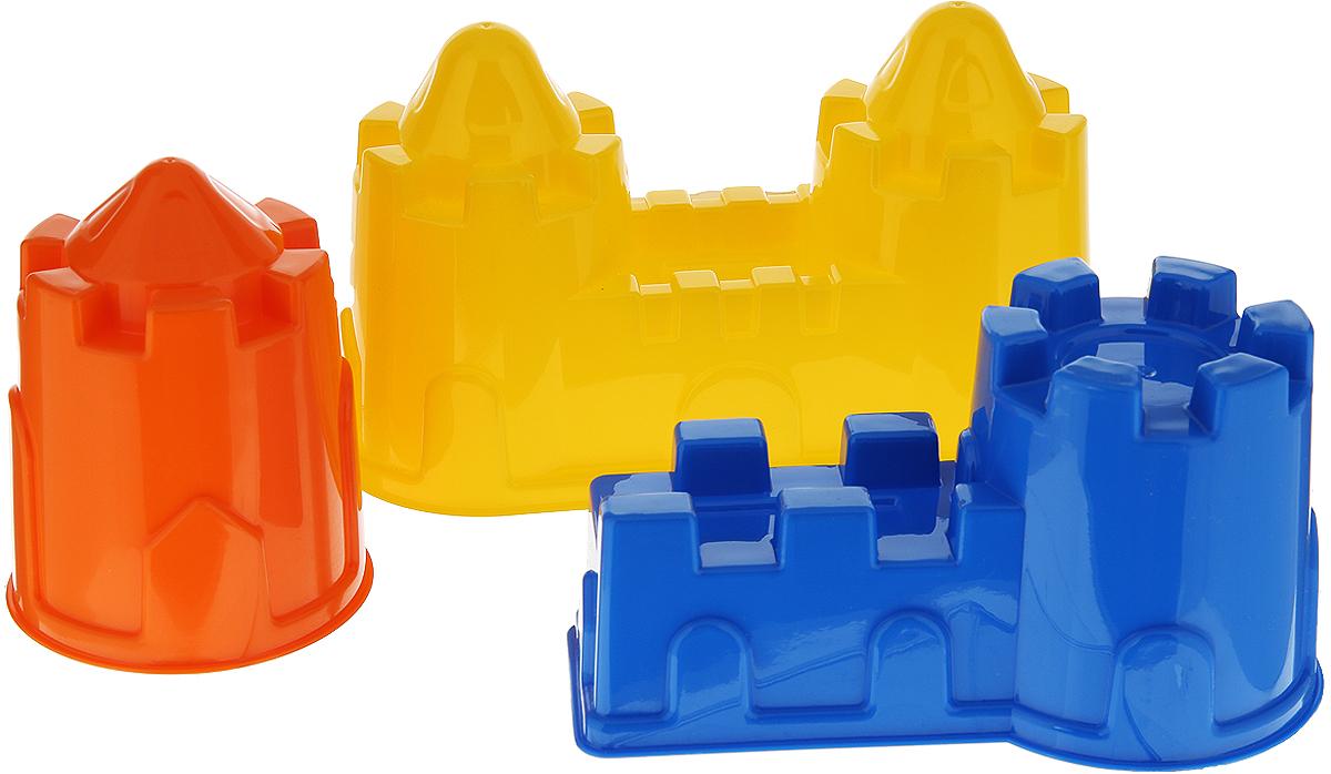 Полесье Игрушка для песочницы Формочки Замок 3 шт, цвет в ассортименте замок с башнями в коробке treetone