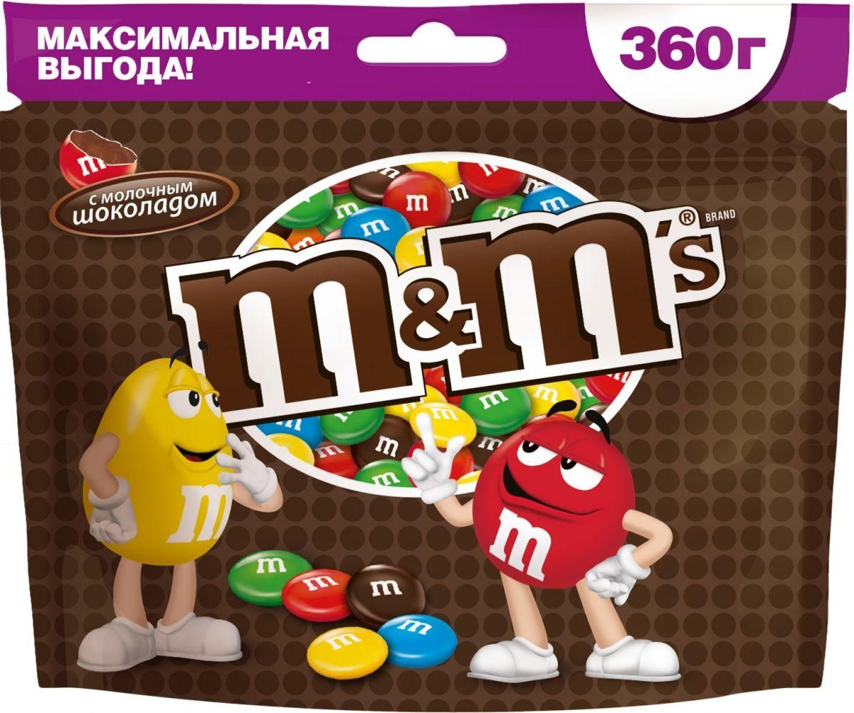 M&M's драже с молочным шоколадом, 360 г драже m