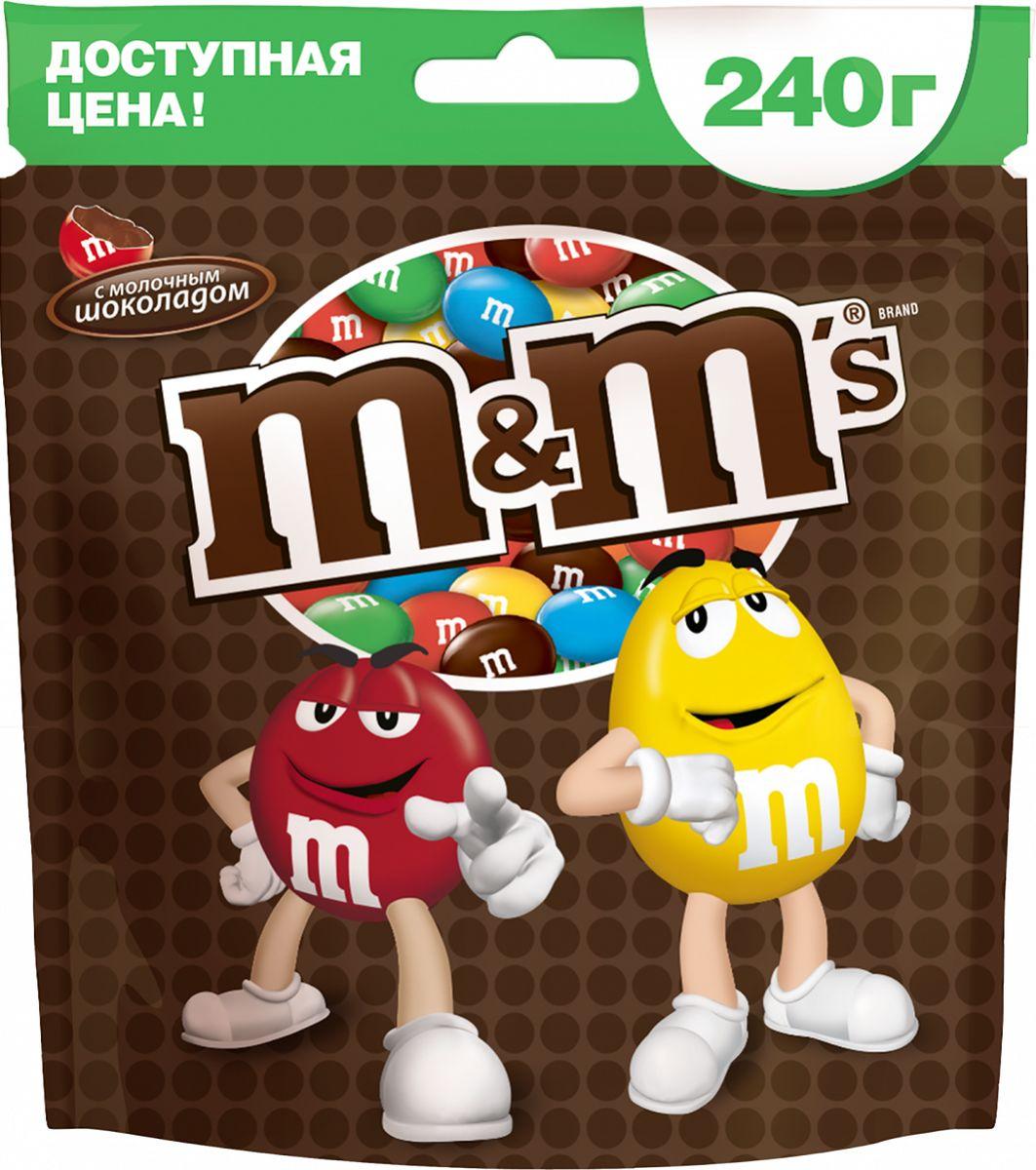 M&M's драже с молочным шоколадом, 240 г драже m
